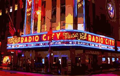 Radio City Music Hall Color 16 Poster by Scott Kelley