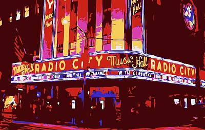 Radio City Music Hall Color 6 Poster by Scott Kelley