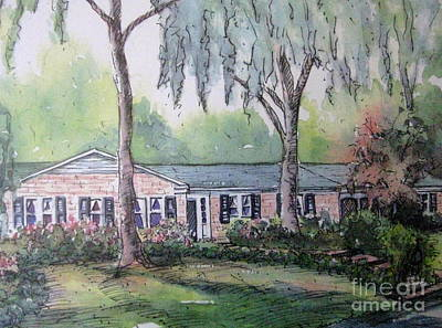 Poster featuring the pastel Ragan's Home 1 by Gretchen Allen