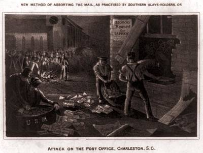 Raid On The Charleston Post Office Poster by Everett