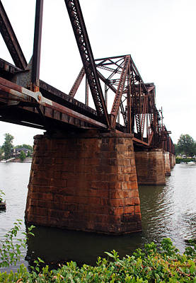 Poster featuring the photograph Railroad Bridge 1 by Kay Lovingood