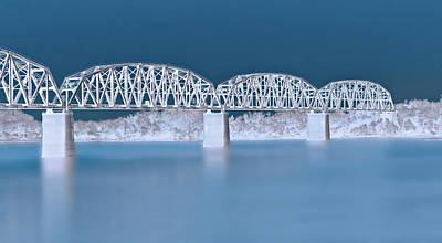 Railroad Bridge Poster by Sandy Keeton
