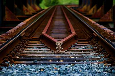 Railway Track Leading To Where Poster