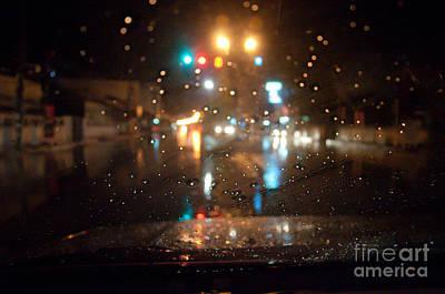 Rain Drop At Front Car Mirror Poster by Ngarare