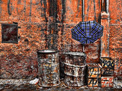 Rain In Marrakesh Poster by Chuck Kuhn