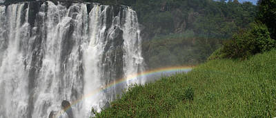 rainbow at Victoria falls Poster by Andrei Fried