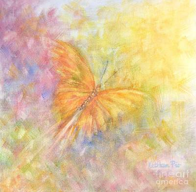 Poster featuring the painting Rainbow Butterfly 3 by Kathleen Pio