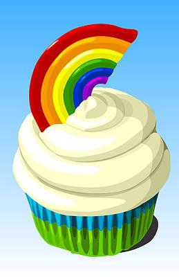 Rainbow Cupcake Poster