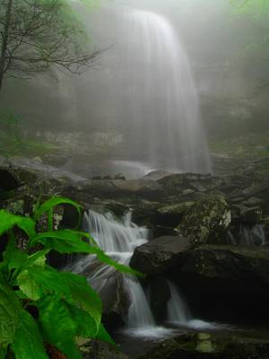 Poster featuring the photograph Rainbow Falls In Fog by Doug McPherson