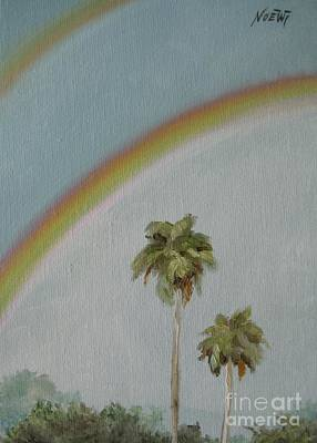 Poster featuring the painting Rainbow by Jindra Noewi