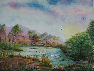 Rainbow Pond Poster by Barbara McGeachen