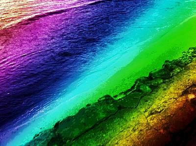 Rainbow Shave-ice Beach Poster by Erika Swartzkopf