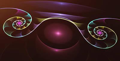 Rainbow Swirls - A Fractal Design Poster