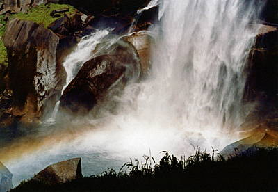 Rainbow Under Vernal Falls 2 Poster by Amelia Racca