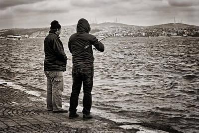Rainy Day Fishing Poster by Joan Carroll