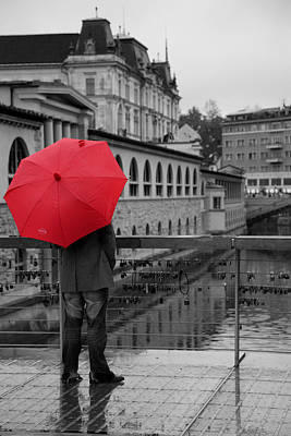 Rainy Days In Ljubljana Poster