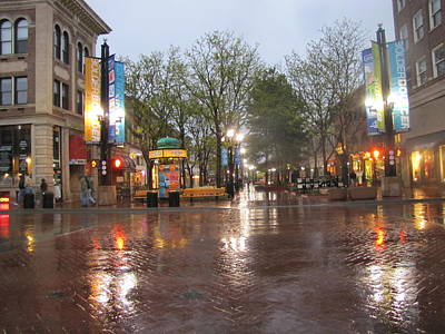 Poster featuring the photograph Rainy Night In Boulder by Shawn Hughes