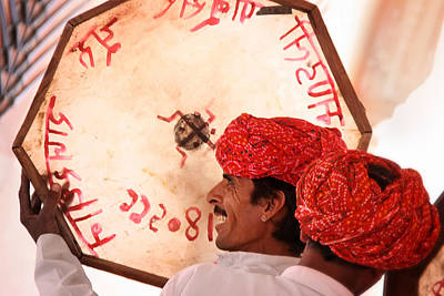 Rajasthani Drummers Poster by Mostafa Moftah