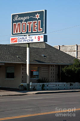 Ranger Motel Poster by Lawrence Burry
