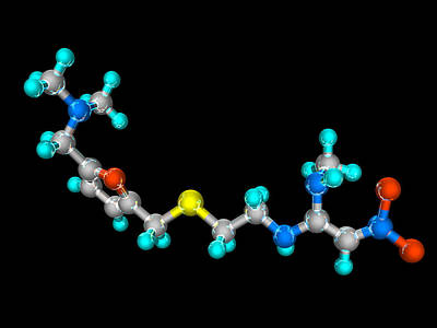 Ranitidine Drug Molecule Poster by Laguna Design