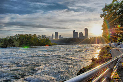 Poster featuring the photograph Rapids Sunset by Michael Frank Jr