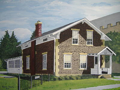 Poster featuring the painting Rasey House by Norm Starks