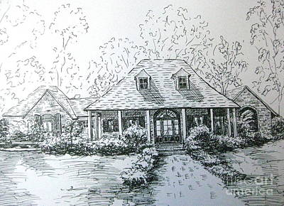 Poster featuring the drawing Rathe's Home by Gretchen Allen