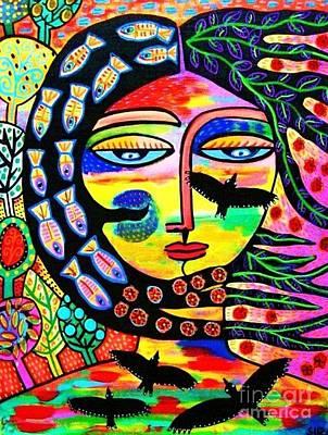 Raven Goddess Poster by Sandra Silberzweig
