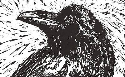 Raven Poster by Julia Forsyth