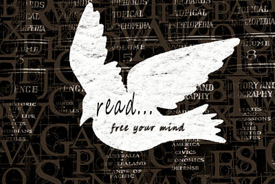 Read Free Your Mind Brown Poster by Angelina Vick
