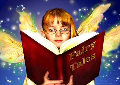 Poster featuring the photograph Read More Fairy Tales by Nada Meeks