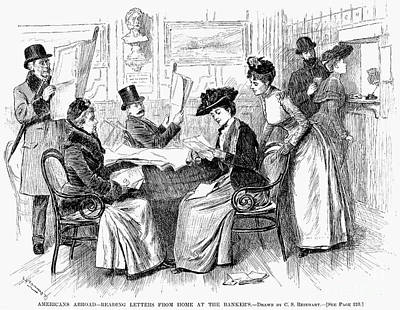 Reading Letters, 1890 Poster