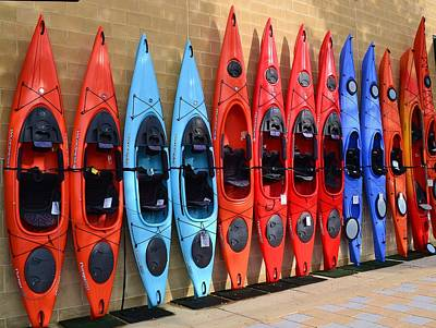 Poster featuring the photograph Ready Kayaks by Mary Zeman