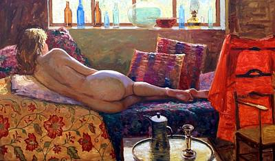 Reclining Nude Poster by Roelof Rossouw