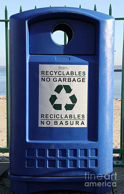Recycling Bin Poster by Photo Researchers, Inc.