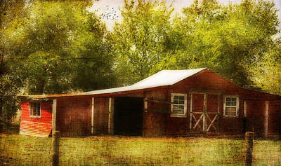 Poster featuring the photograph Red Barn by Joan Bertucci