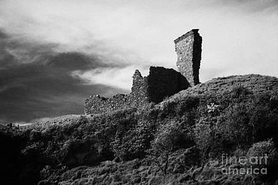 Red Bay Castle Waterfoot Cushendall County Antrim Northern Ireland Poster by Joe Fox