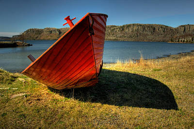 Red Boat Poster by Jakub Sisak
