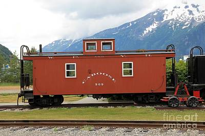 Red Caboose Poster by Sophie Vigneault