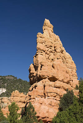 Red Canyon Rock Formation Poster by Gloria & Richard Maschmeyer