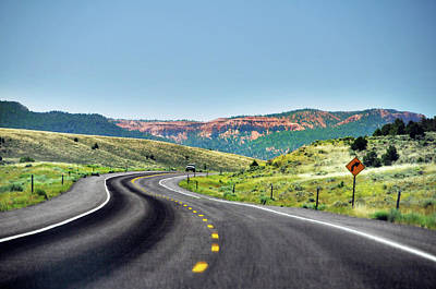 Red Canyon Seen From Highway Poster by Utah-based Photographer Ryan Houston