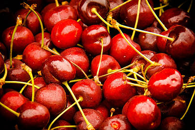 Red Cherries Poster by Jen Morrison