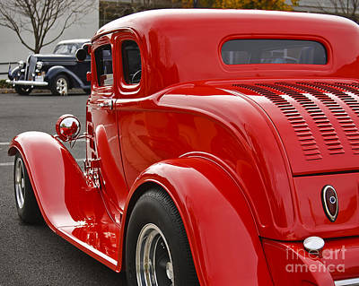 Red Coupe Poster