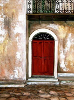 Red Door Poster by Debi Starr
