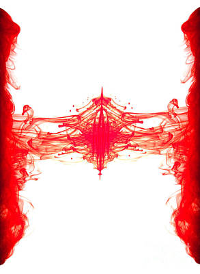 Red Ink Abstract Poster by Richard Thomas