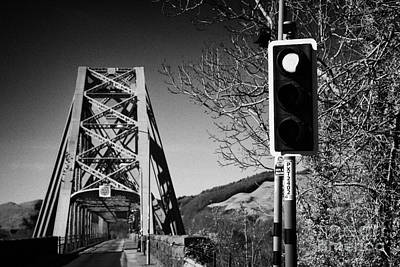 Red Light Traffic Control At The Single Track Connel Bridge On The A828 Coastal Route Road Over Loch Poster by Joe Fox