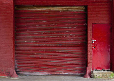Red Loading Bay Door Poster by Inti St. Clair