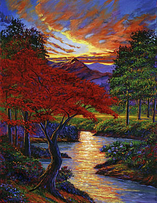 Red Maple Poster by David Lloyd Glover