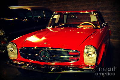 Red Mercedes Sl Poster