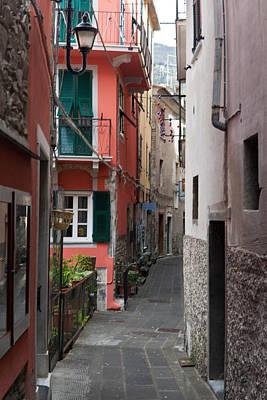 Alleyway In Riomaggiore Cinque Terre Italy Poster by Mike Reid